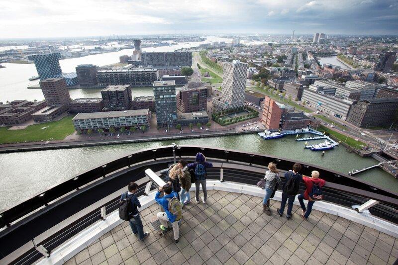 Aussicht vom Euromast, Blick auf Lloydkwartier