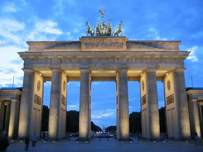 Brandenburger Tors  in der Dämmerung
