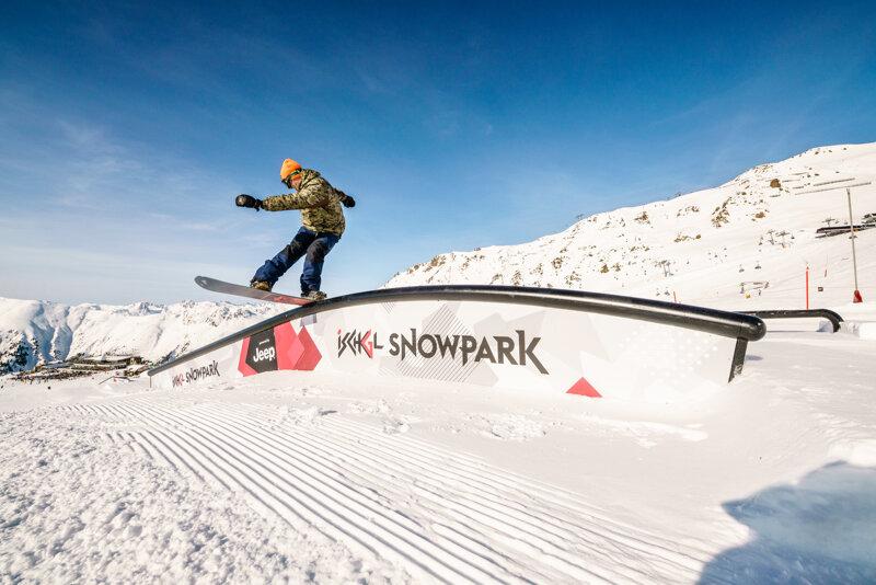 Der Fun Park im Skigebiet Ischgl, der Silvretta Arena