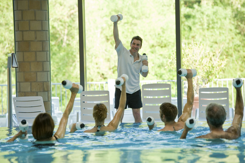 Aquafitness im Innenbecken Therme Bad Kreuznach
