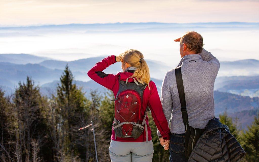 Wanderer Paar Hochblauen Schwarzwald