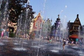 Platz der Fontänen C Plopsa Parks