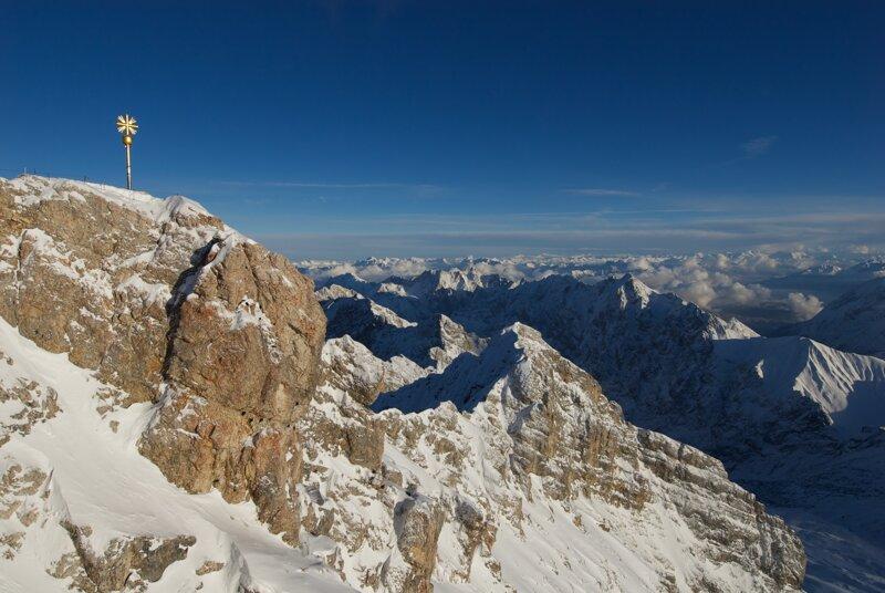 Zugspitze Gipfel Winter