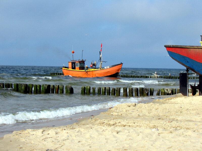 Insel Wolin, Fischerboot