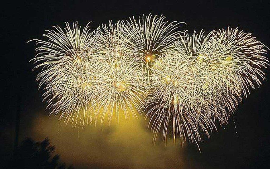 Feuerwerk zu Silvester in Polen