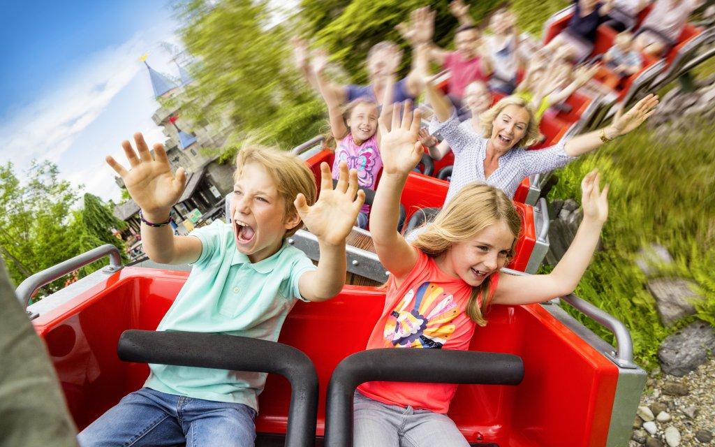 Achterbahn für Kinder im Legoland Deutschlnd