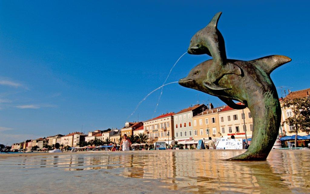 Delfinbrunnen in Mali Losinj