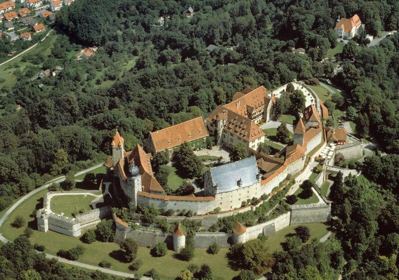 Coburg Veste Luftaufnahme