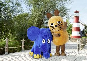 Maus und Elefant im Spieleland©Ravensburger Spieleland