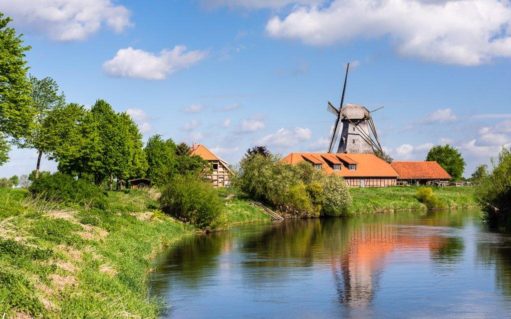 Erlebniswelt Lüneburger Heide Mühle am Fluss