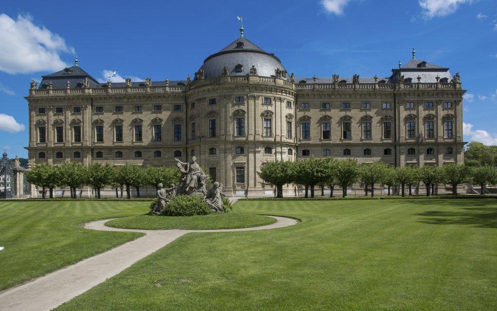 Blick auf Residenz Würzburg