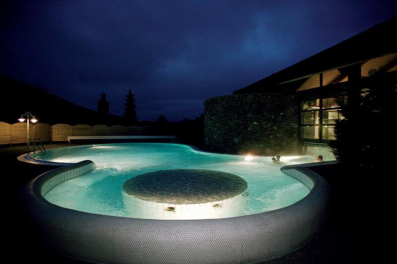 Lagunenbad Willingen Aussenbecken Nacht
