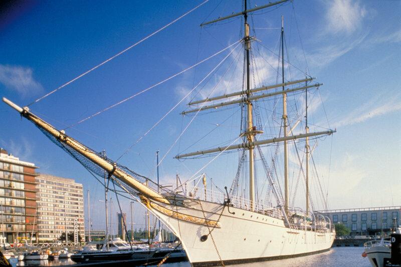 Dreimaster-Schulschiff Mercator in Oostende