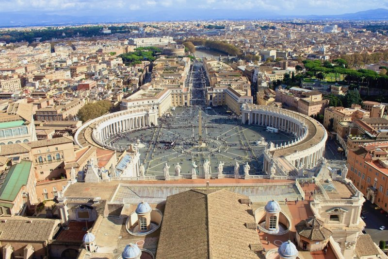 Vatikanstadt von oben