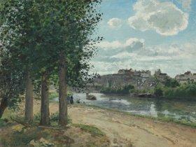 Camille Pissarro  Pontoise  Die Ufer der Oise  1872  Leihgabe aus Privatbesitz  Foto  c  Staatsgalerie Stuttgart