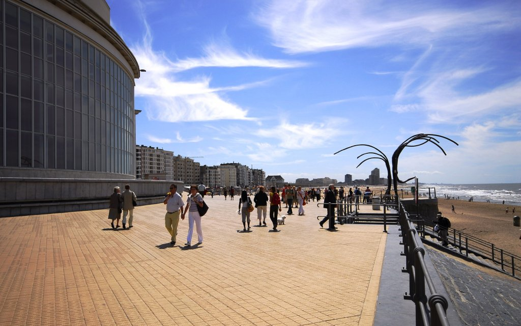 Strandpromenade in Oostende