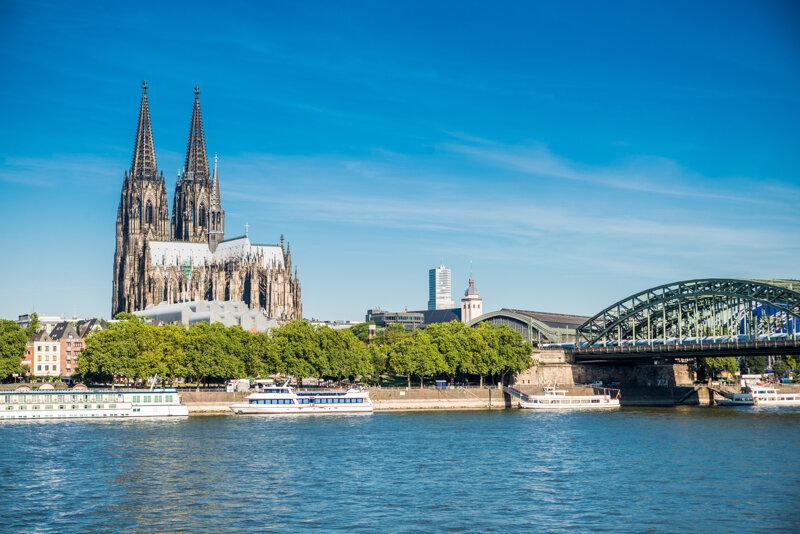 Rhein und Kölner Dom