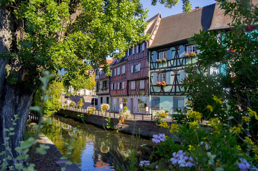 Fachwerkhäuser am Kanal in Colmar