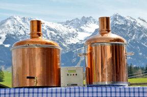 Brauanlage vor Nebelhorn