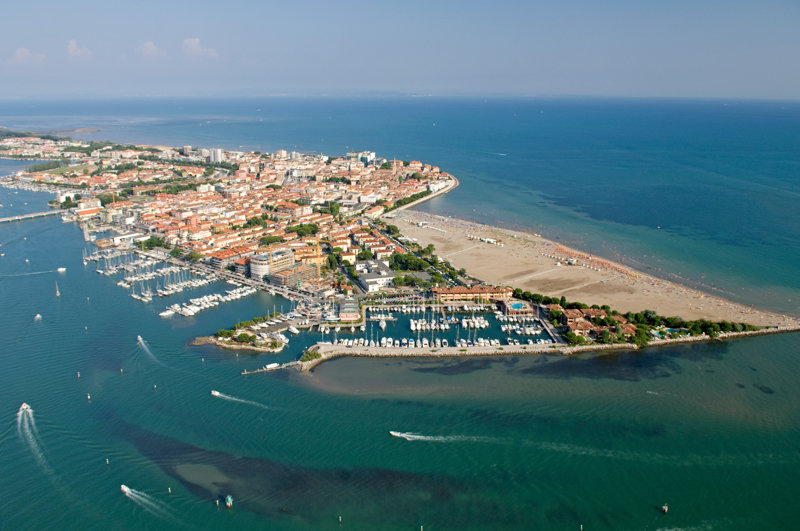 Luftaufnahme von Grado
