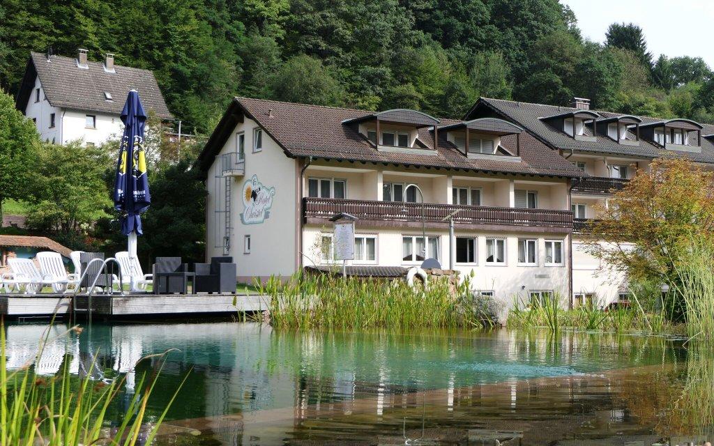 Heimbuchenthal Hotel Christel Außenansicht See