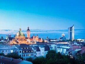abendstimmung skyline von leipzig LTM Michael Bader