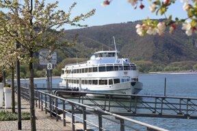 Ausflugsschiff am Kulturufer - Daytour vessel at the Culture Riverside