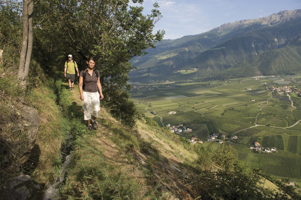 Wanderer in Südtirol