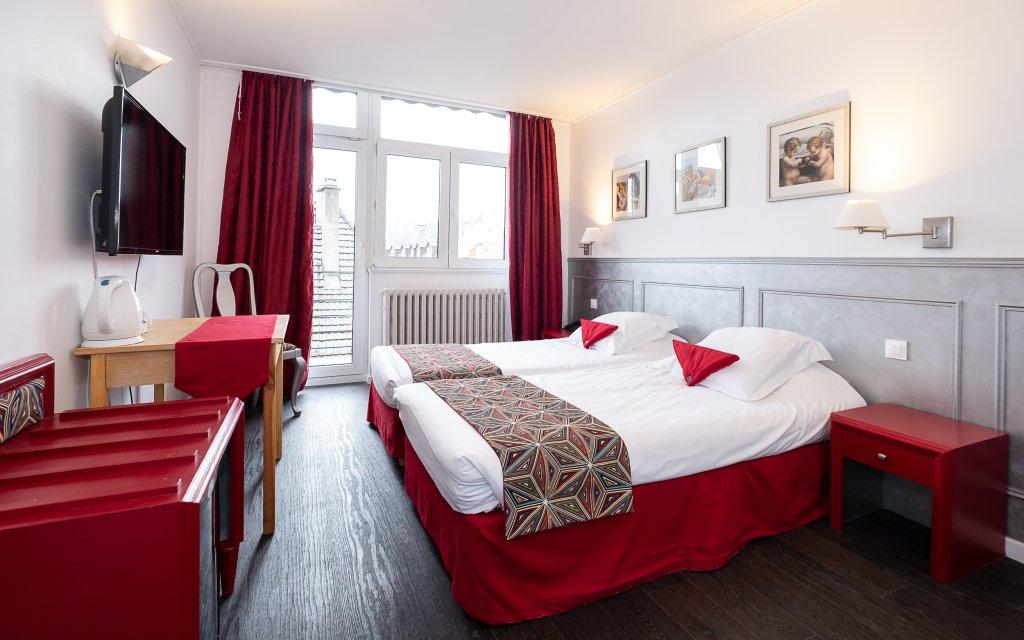 Guebwiller Hôtel de l'Ange Zimmer Doppelzimmer