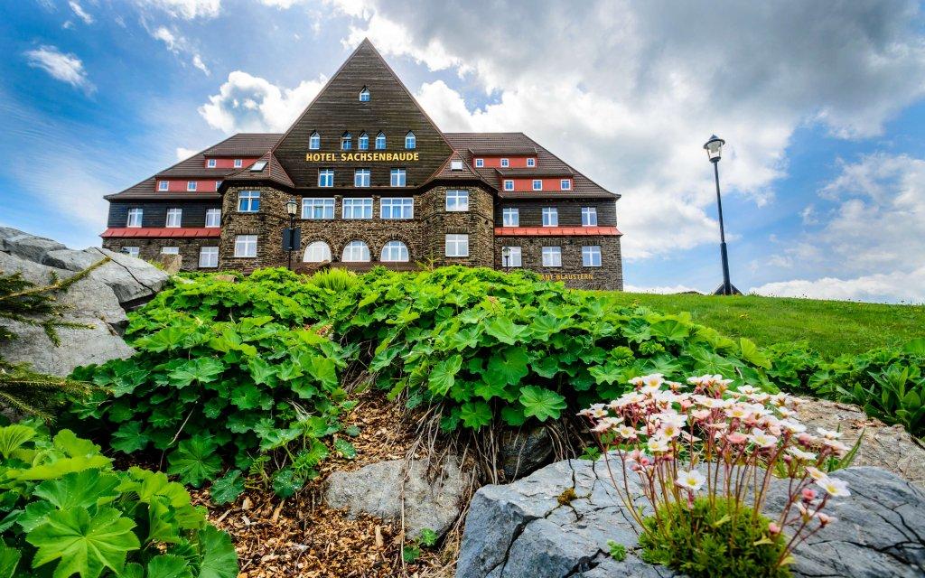 Oberwiesenthal Relaxhotel Sachsenbaude aussen Außenansicht