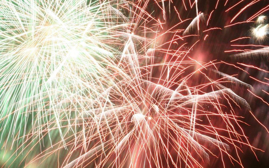 Feuerwerk zu Silvester in Frankreich