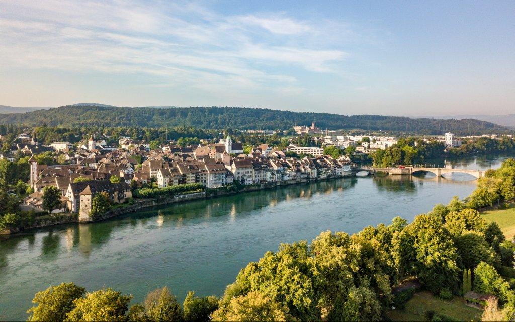 Blick auf Rheinfelden über den Rhein