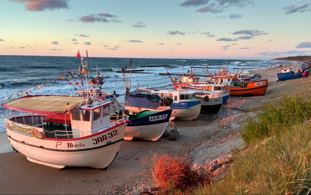 Boote am Strand von Jershöft