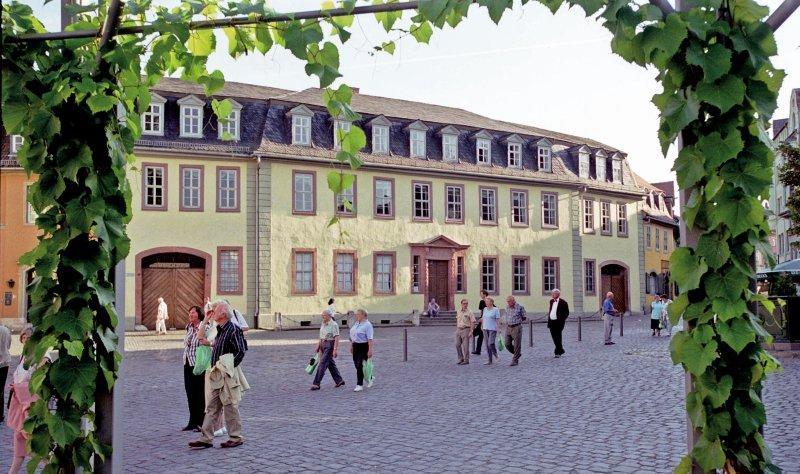 Goethes Wohnhaus in Weimar Außenansicht
