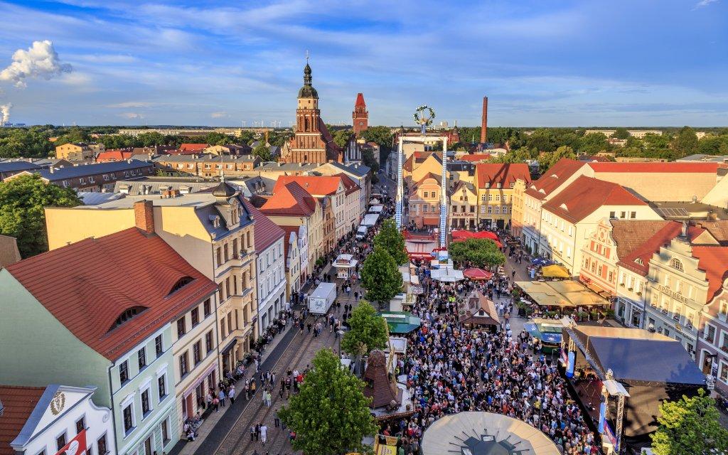Blick auf Altstadt Cottbus