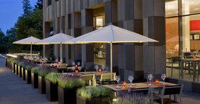 Melia Luxemburg Terrasse Foto Hotel
