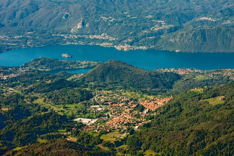 Lago d' Orta in Italien