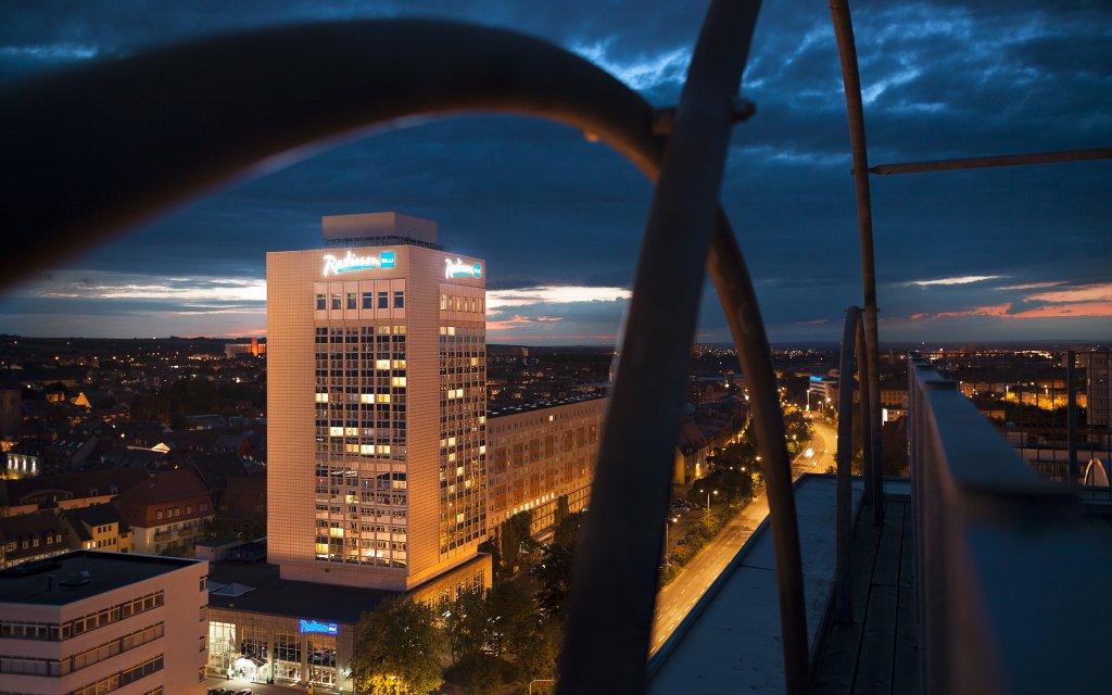 Erfurt Radisson Blu Hotel Außenansicht