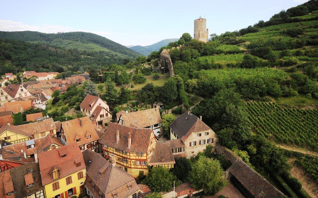 Burg und Dorf Kaysersberg
