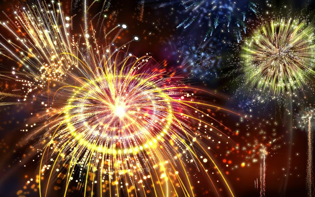 Feuerwerk zu Silvester München