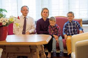 Peggy Ganjoueff und Familie