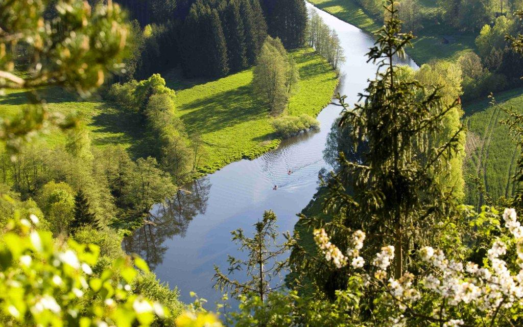 Die Rodach in Frankenwald bei Steinwiesen