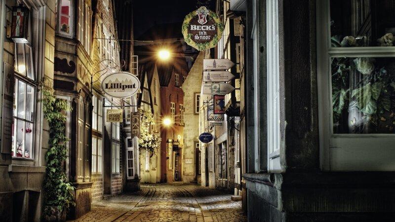 Schnoor Viertel bei Nacht