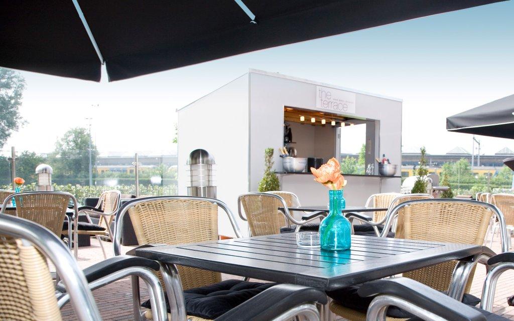 Amsterdam WestCord Art Hotel 3 Terrasse Aussen