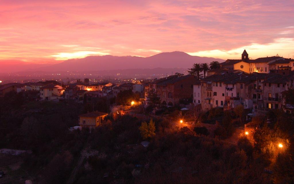 Albergo Quattro Gigli Montopoli Aussicht Sonnenuntergang