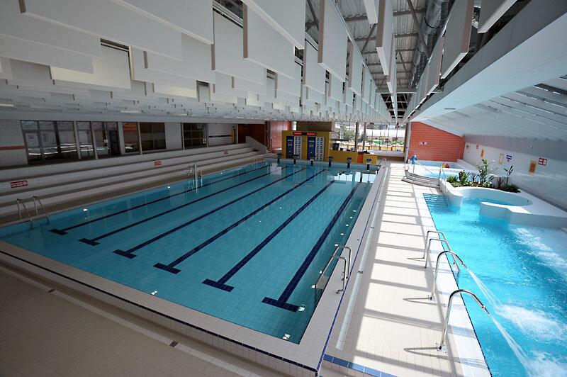 Schwimmbecken im Aquapark Ceská Lípa