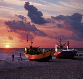Misdroy Fischkuter Sonnenuntergang