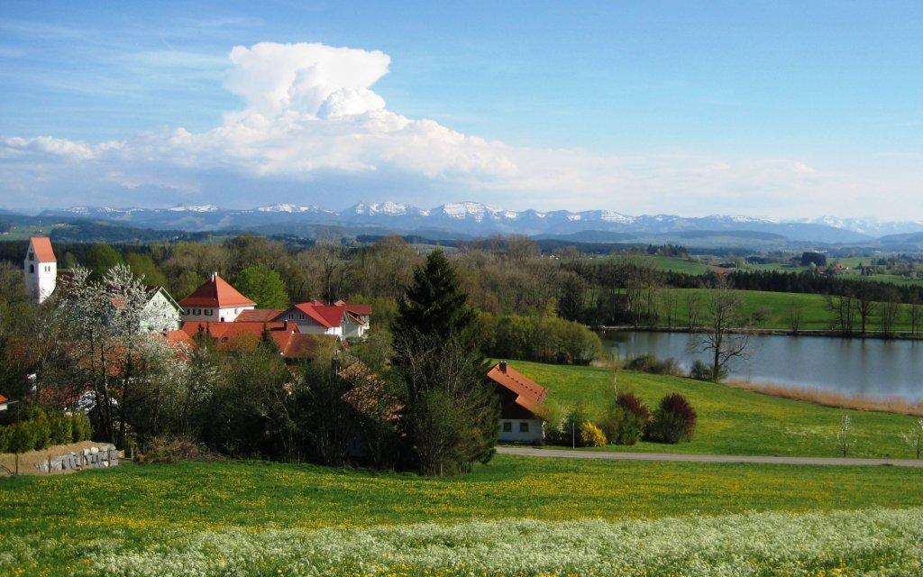 Panoramablick über Kißlegg im Allgäu