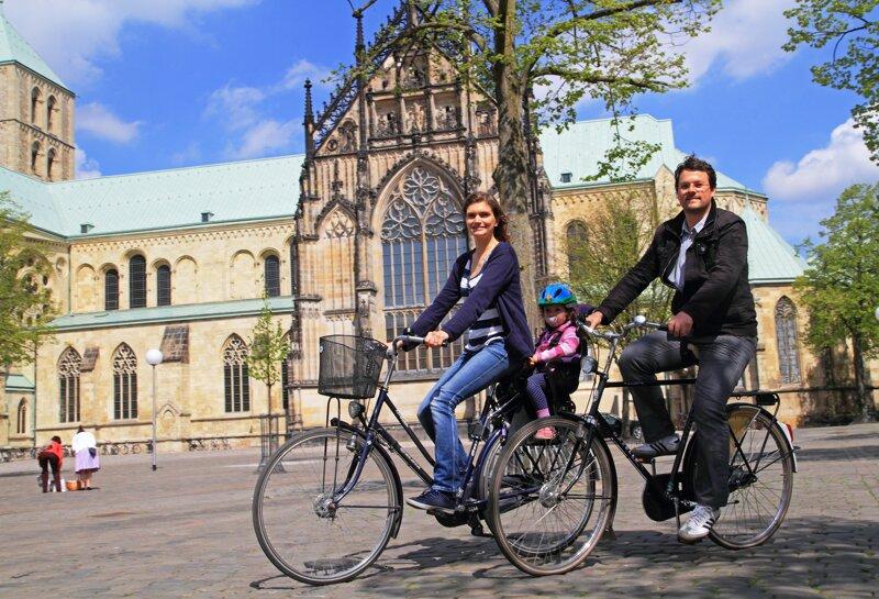 Fahrradfahrer in Münster