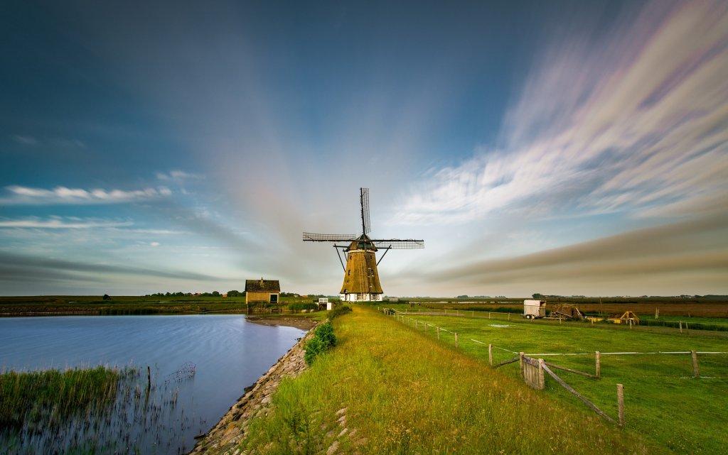 Mühle auf der Insel Texel in den Niederlanden
